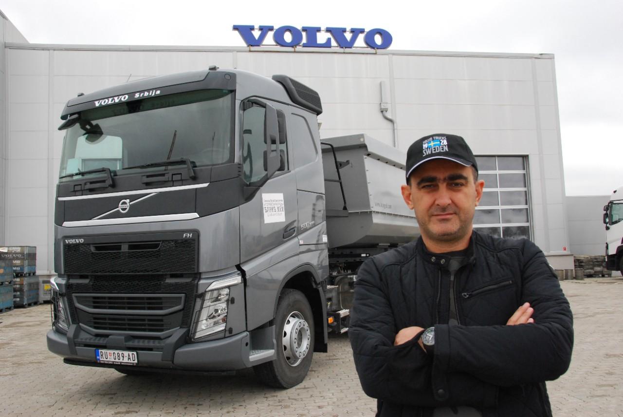 Volvo FH odličan u prevozima peskovito-šljunkovitih materijala i kamenih agregata